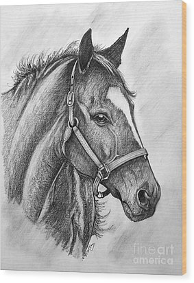 Wood Print featuring the drawing Zenyatta by Patrice Torrillo