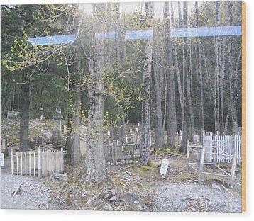 300yr Cemetery Wood Print by Brian Williamson