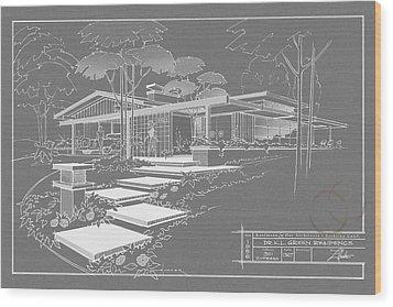 301 Cypress Drive - Charcoal Wood Print