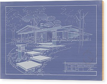 301 Cypress Drive - Reverse Wood Print