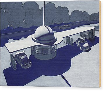 Roadside Of Tomorrow Wood Print by Robert Poole