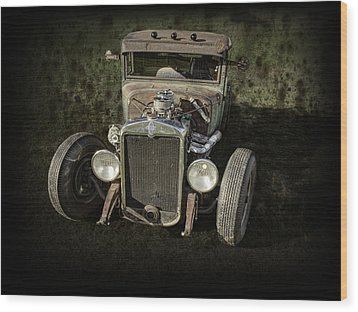 31 Chevy Rat Rod Wood Print by Thomas Young