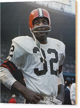 #32 Jim Brown Wood Print