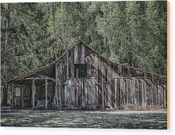 33 Wood Print