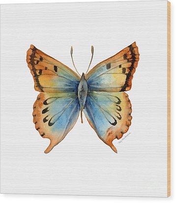 33 Opal Copper Butterfly Wood Print by Amy Kirkpatrick