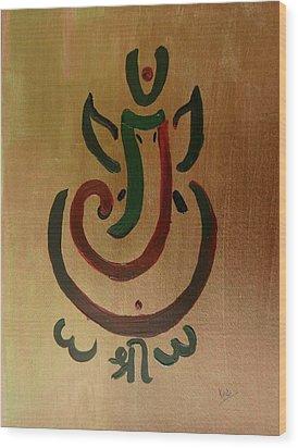 33 Rakta Ganesh Wood Print