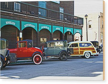 34 Main St Isleton Wood Print by Joseph Coulombe