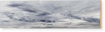 Clouds Wood Print by Les Cunliffe