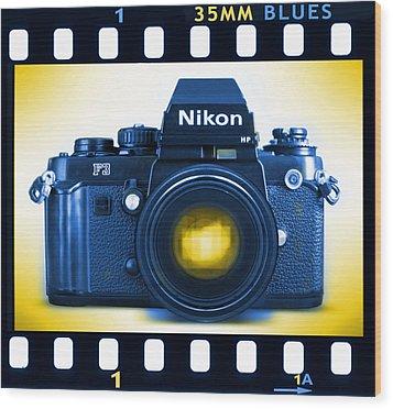 35mm Blues Nikon F-3hp Wood Print by Mike McGlothlen
