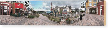 360 View Panorama, Mont-tremblant Wood Print by Henry Lin