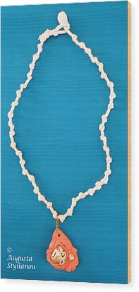 Aphrodite Gamelioi Necklace Wood Print by Augusta Stylianou