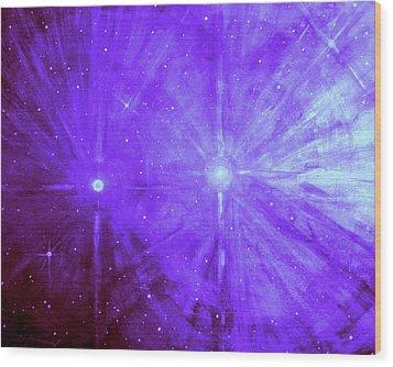 Cosmic Light Series Wood Print by Len Sodenkamp
