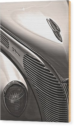 38 Ford Deluxe Sepia Wood Print by John  Bartosik