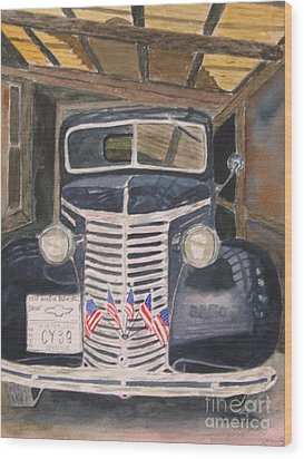 39 Chevy Wood Print by Peggy Dickerson