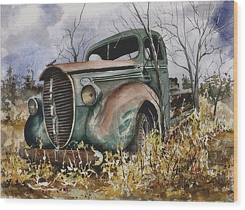 39 Ford Truck Wood Print by Sam Sidders