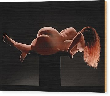 3952 Full Figured Nudes Wood Print by Chris Maher