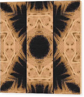 3d Abstract Fractal Wood Print by Maggie Vlazny