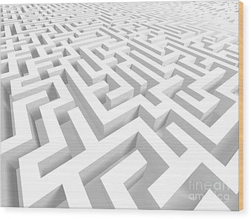 3d Maze - Version 2 Wood Print by Shazam Images