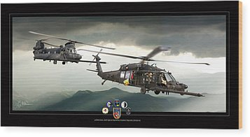 3rd Battalion Special Ops Wood Print by Larry McManus