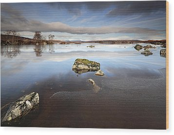 Lochan Na H-achlaise Wood Print by Grant Glendinning
