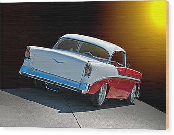 1956 Chevrolet Bel Air Wood Print by Dave Koontz