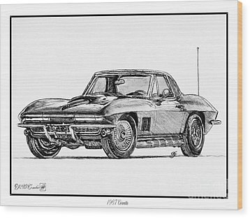 1967 Corvette Wood Print by J McCombie