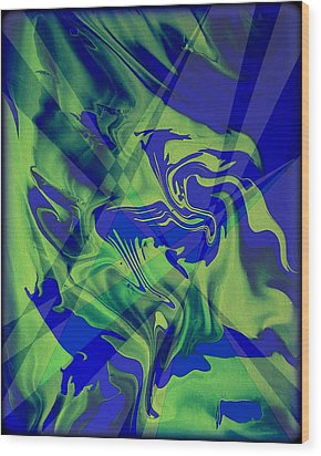 Abstract 32 Wood Print by J D Owen