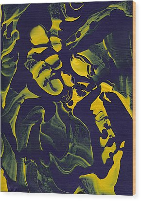 Abstract 62 Wood Print by J D Owen