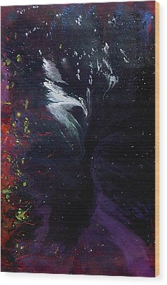 Wood Print featuring the painting Abstract by Min Zou