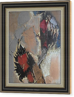 Abstraction Wood Print by Pemaro