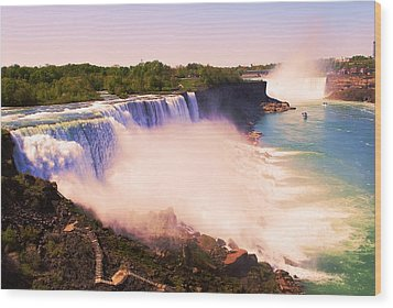 American Niagara Falls Wood Print by Richard Jenkins
