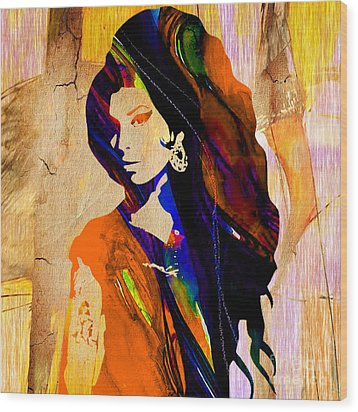 Amy Winehouse Collection Wood Print