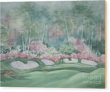 Augusta National 13th Hole Wood Print by Deborah Ronglien