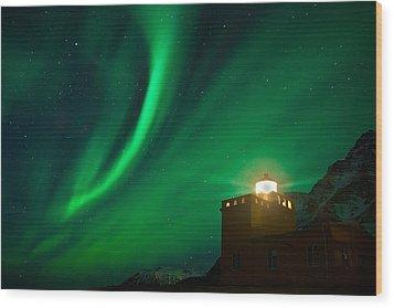 Aurora Borealis Wood Print by Frodi Brinks