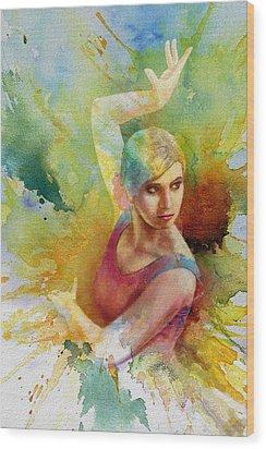 Ballet Dancer Wood Print by Corporate Art Task Force