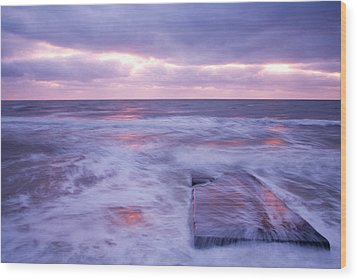 Ballyconnigar Strand At Dawn Wood Print