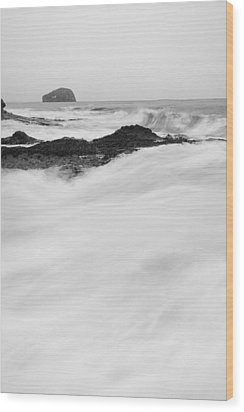Bass Rock Wood Print by Keith Thorburn LRPS