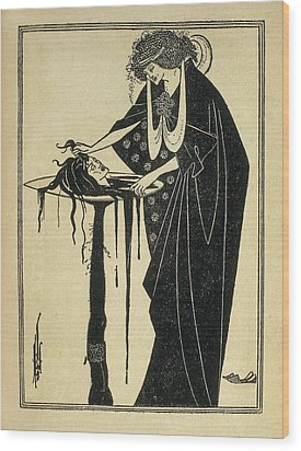 Beardsley, Aubrey Vincent 1872-1898 Wood Print by Everett