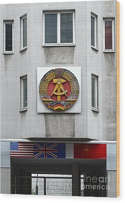 Berlin - Checkpoint Charlie Wood Print by Gregory Dyer