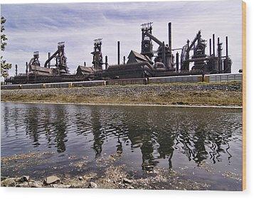 Bethlehem Steel Wood Print by Michael Dorn