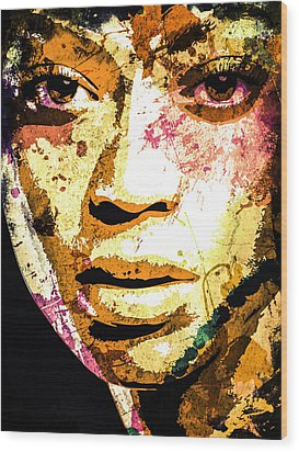 Beyonce Wood Print by Svelby Art