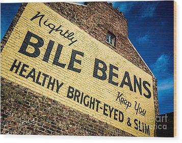 Bile Beans Advertising Wood Print by Bailey Cooper