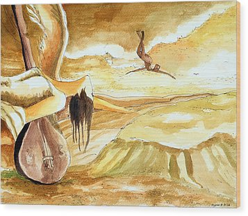 Birth Of A Song Wood Print by Ayan  Ghoshal