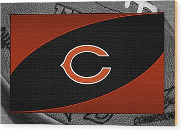 Chicago Bears Wood Print by Joe Hamilton