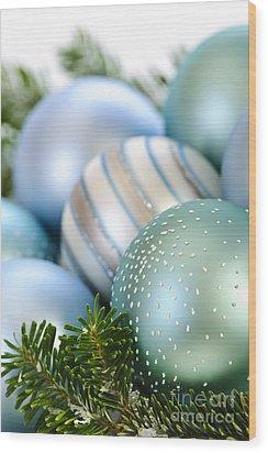 Christmas Ornaments Wood Print by Elena Elisseeva