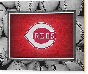 Cincinnati Reds Wood Print by Joe Hamilton