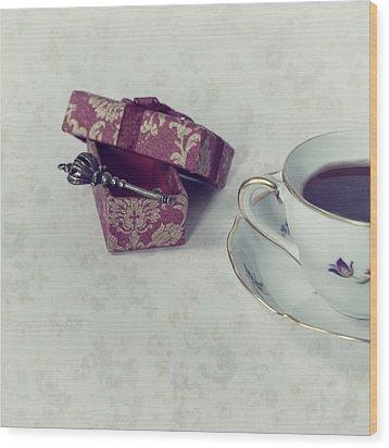 Coffee Time Wood Print by Joana Kruse