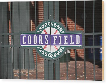 Coors Field - Colorado Rockies Wood Print by Frank Romeo