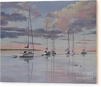 Cuttyhunk Harbor Wood Print