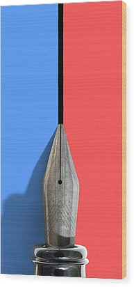 Drawing The Line Wood Print by Allan Swart